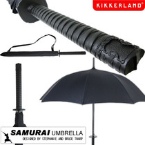 Paraguas Diseño Katana Samurai Kikkerland Nueva Negra