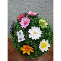Flor De Loto Artificial Varios Colores Vbf