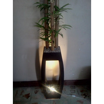 Lampara Decorativa Con Bambu