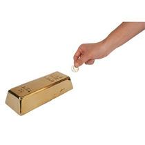 Alcancía En Forma Lingote De Oro Decorativo