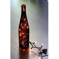 Botella Navideña Reciclada Con Serie 100 Led