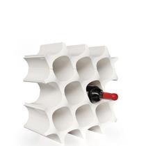 Porta Vinos Cava De Célula Se Puede Ampliar Color Blanco