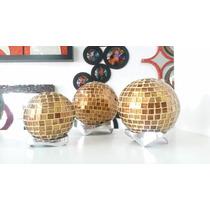 Esferas De Vitral Con Cristal Soplado Decorativas
