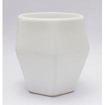 Taza Ceramica Blanco Mate O-lab Diseño Diamante Café Decora