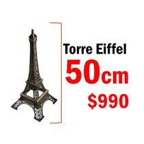 Torre Eiffel 50cm Metal A Escala Boda Xv Años Decoracion
