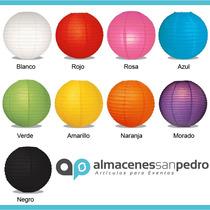 Lamparas Chinas De 30cms, 9 Colores Disponibles Para Fiestas
