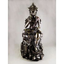 Escultura Buda Kuan Yin Figura Apariencia Bronce Adorno