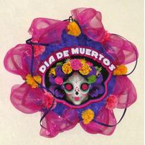 Catrina Corona Día De Muertos Altar Halloween Adorno Decora