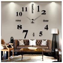 Vinilo Decorativo 3d Reloj Para Sala Sobrepedido