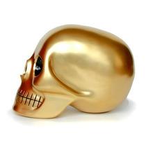 Craneo Decorativo De Resina Mono Dorado Skull Nuevo Decora