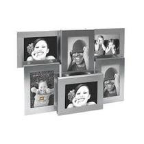 Porta Retrato Para 6 Fotos Moderno Relieves Aluminio Nuevo