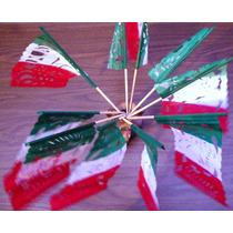 Bandera Centro Mesa Papel Picado Fiestas Patrias Septiembre