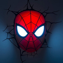 Lampara Para Pared Spider Man Cabeza Marvel Disney