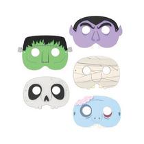 Mascaras Para Fiesta Niños De Halloween Set 5 Piezas Kikkerl