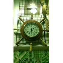 Reloj De Pared Westclox Náutico Tipo Timón Antiguo Vintage