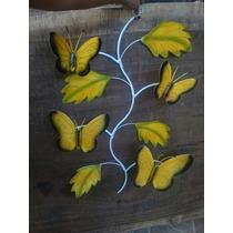 Figura Mariposa Decorativa De Pared.