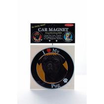 Iman Para Refrigerador Circular O Huellitas Pug Negro - Unic