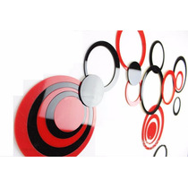 Sticker 3d Para Pared Unicos Y Elegantes Rojo Blanco Y Negro