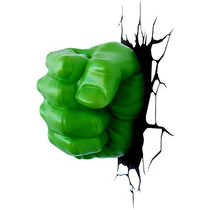Lampara Para Pared 3d Puño De Hulk Marvel Disney