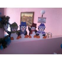Hermosos Pinguinos Para Navidad De Madera