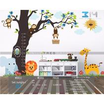 Vinil Decorativo Arbol Set Jungla 01. Calcomanía De Pared.