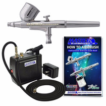 Sistema De Aerografía Compresor Aerografo Kit