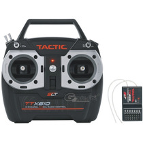 Radiocontrol Tactic Ttx 610 6 Ch. Slt Rx 2.4 Ghz Avion Heli