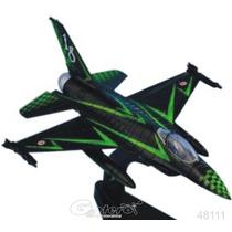 Italeri Die Cast Avion F16 Adf 1000 Hrs 1/100 Con Exhibidor