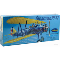 Guillows Avion Biplano Stearman Pt17 Madera Balsa Armar 1/16