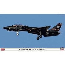 Hasegawa 01908 1/72 F-14d Tomcat Black Tomcat Kit Avion