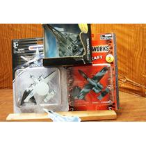 Lote 4 Jets Usf Militares Miniatura Metalic 1/144 Ve Anuncio