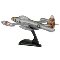 Avion De Combate F-84 Thunderjet Model Power Regalo Mdn