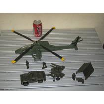 Helicoptero Apache Esc. 1:35 De Plastico 40 Cm. De Largo