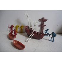 Barco Pirata Con Botes De Juguete Escala - Tipo Antiguo