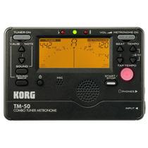 Sintonizador Metrónomo Afinador Korg Tm50bk Color Negro