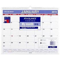 En Un Vistazo Calendario Mensual De Pared 2016, 12 Meses, 15