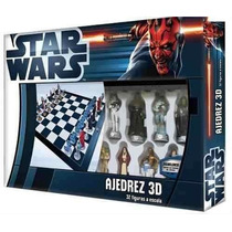 Ajedrez Star Wars Figuras 3d Collections Envío Gratis En3