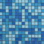 Mosaico Veneciano Alberca Piscina Combinado Azul Blanco