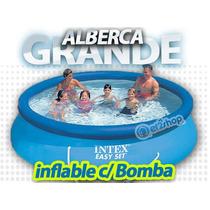 Alberca Grande C Bomba Y Filtro 3metros Inflable Intex Nadar