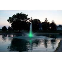 Fuente Flotante Con Luz Led Para Lago, Presa O Alberca