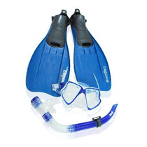 Aletas 20-21 Visor Snorkel Buceo Natacion Kit