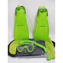 Juego Aletas Visor Snorkel U.s Divers Niño 1-4 Usa E830
