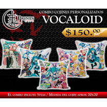 Combo Cojines Personalizados Miku Hatsune & Vocaloid