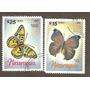 Estampillas De Nicaragua Mariposas Usadas