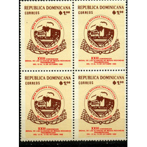 0601 Rep Dominicana Block 4 1 Pieza Mint N H 1982