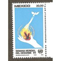 Estampillas 1984, Semana Mundial Del Desarme Onu