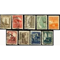 0645 México Monumentos Sin Filigrana 1° E 9 S Usados 1923