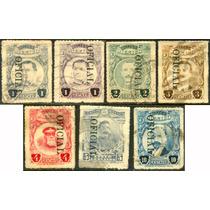 0647 México H Ilustres Oficial Punto 7 Sellos Usados 1921-30