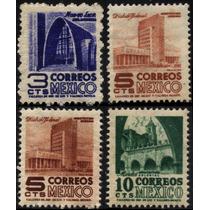 0769 Arquitectura 1° E Serie 3c (2)5c 10c Mint L H 1950