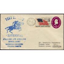 0891 E U A Pony Expres Carta Impresa P Día A Argentina 1960